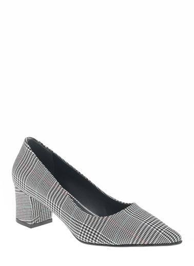 D by Divarese Kısa Topuklu Ayakkabı Gri